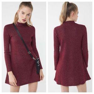 NWT UO Sparkle Glitter Ribbed Sweater Mock Dress